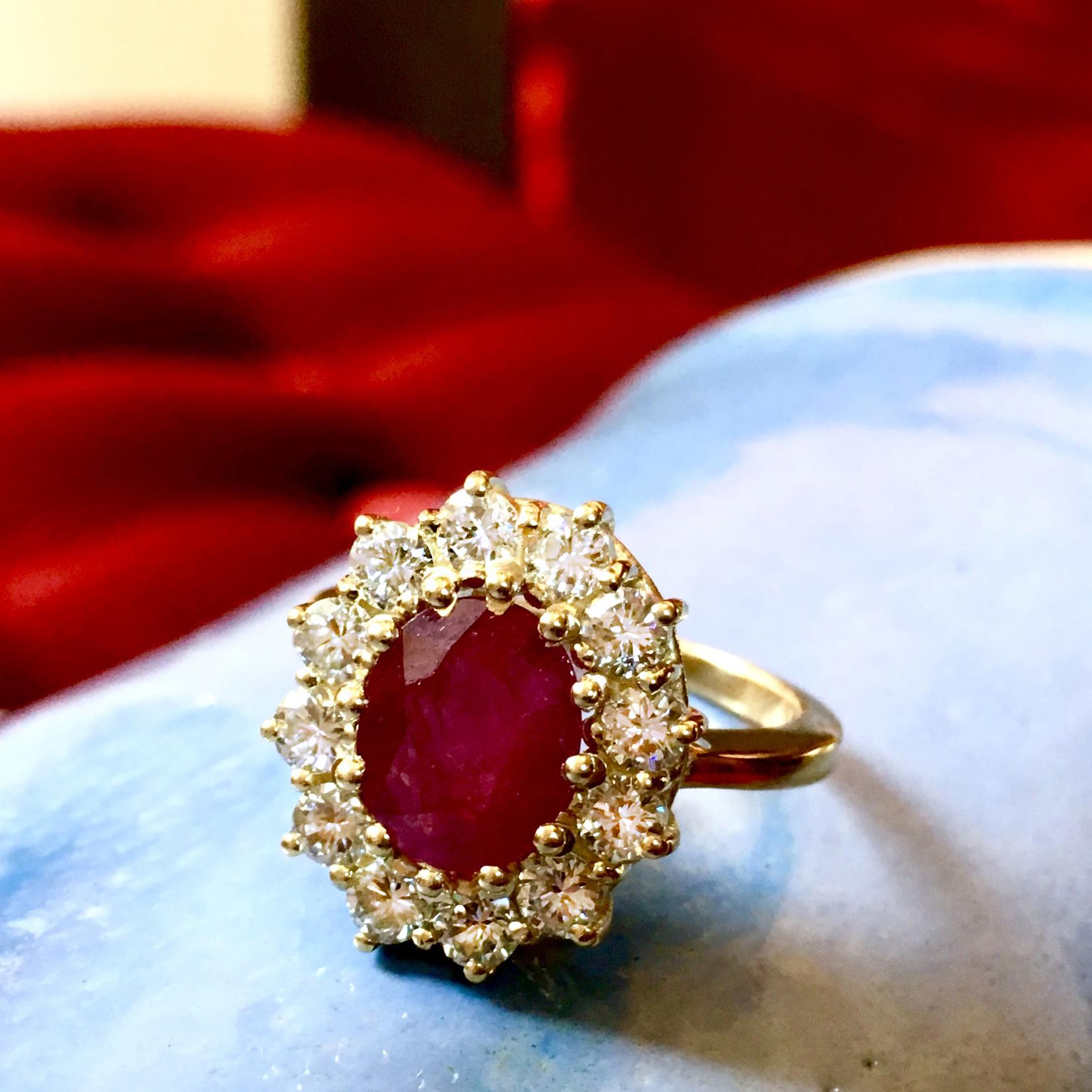 Ruby Renewed Diana Style Ring