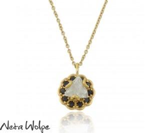 Eclectic Rough Diamond Yellow Gold Pendant