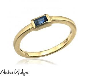 Petite Sapphire Baguette Ring