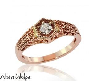 Ornate Gold Diamond  Ring