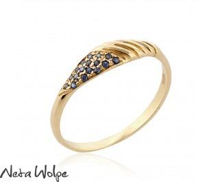 Rodin Sapphire Spiral Ring