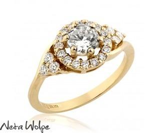 Art Deco Diamond Floating  Ring