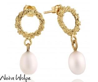 Garland Pearl Earrings Yellow Gold