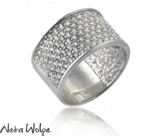 Dazzling Pave Diamond White Gold Ring-Big