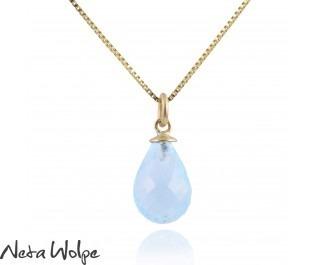 Blue Topaz Bulb Necklace