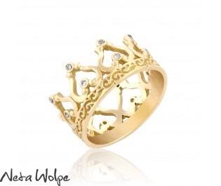 Crown Ring 14k Gold