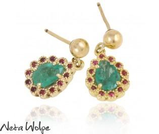 Victorian Style Pear Shaped Earrings