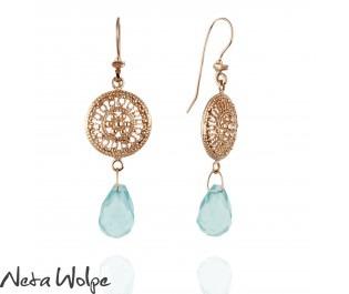Rose Gold Ethnic Earring