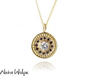 Vintage Style Yellow Gold Diamond Pendant