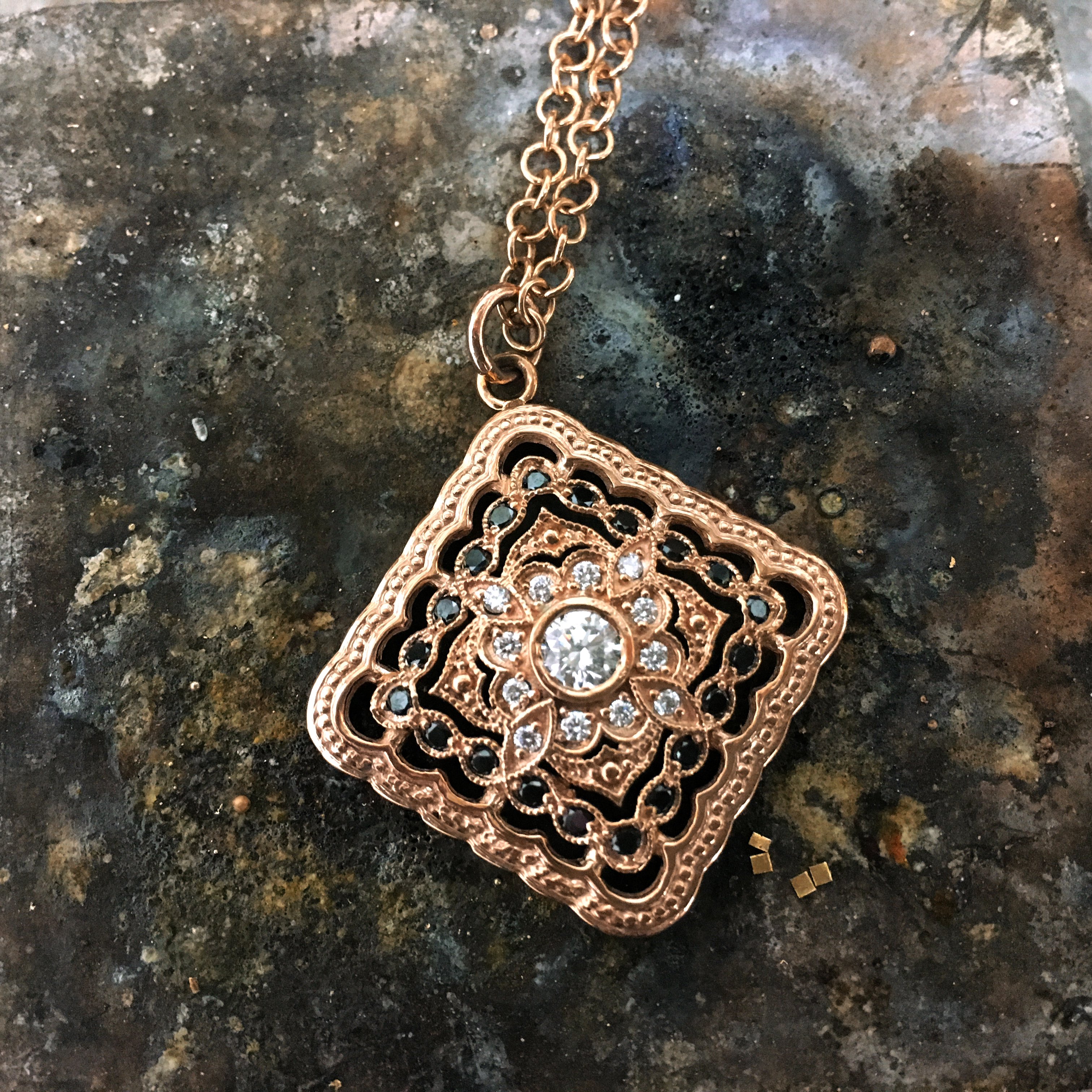 Custom Rose Gold Pendant