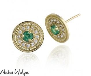 Vintage Style Emerald Earrings