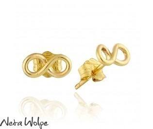 Petite Infinity  Yellow Gold Stud Earrings