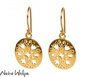 Oval Filigree Gold Earrings