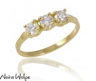 Yellow Gold Diamond Trio Ring