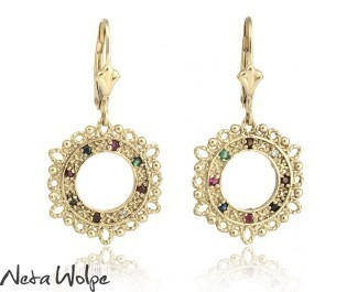 Exotic Precious Stone Earrings