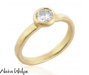 Diamond Ring in Bezel Setting