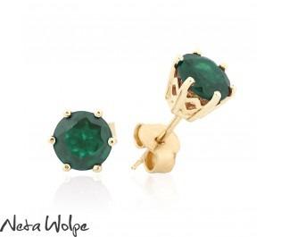 Royal Emerald Gold Studs