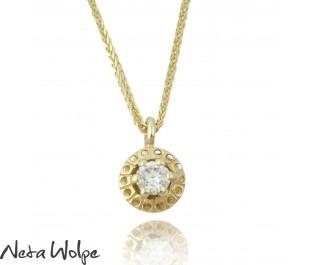 Antique Eclectic Diamond Yellow Gold  Pendant
