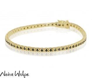 Classic Black Diamond Tennis Bracelet