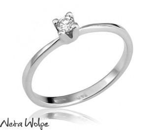 Art Deco Thin Diamond Engagement Ring