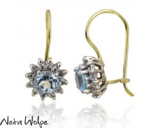 Princess Diana Blue Topaz Elegant Drop Earrings