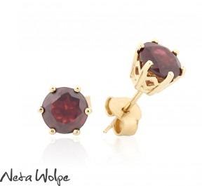 Royal Ruby Gold Studs