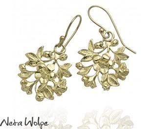 Victorian Flower Drop Earrings