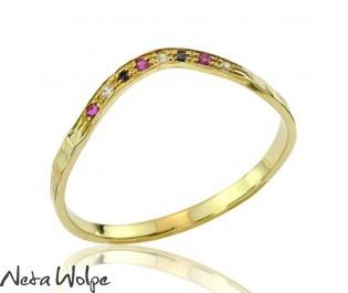 Custom Gemstone Wedding Ring