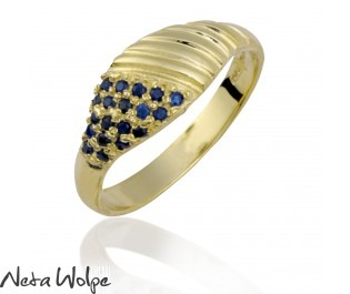 Sapphire Spiral Ring, Big