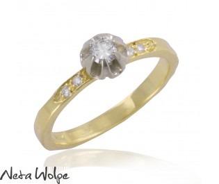 Lilly Pad Diamond Ring