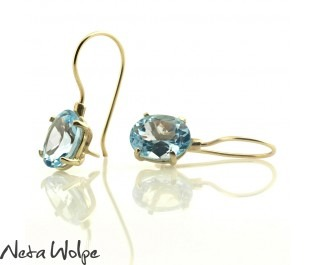 14k Magical Blue Topaz Earrings