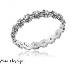 Vintage Diamond White Gold Eternity Ring