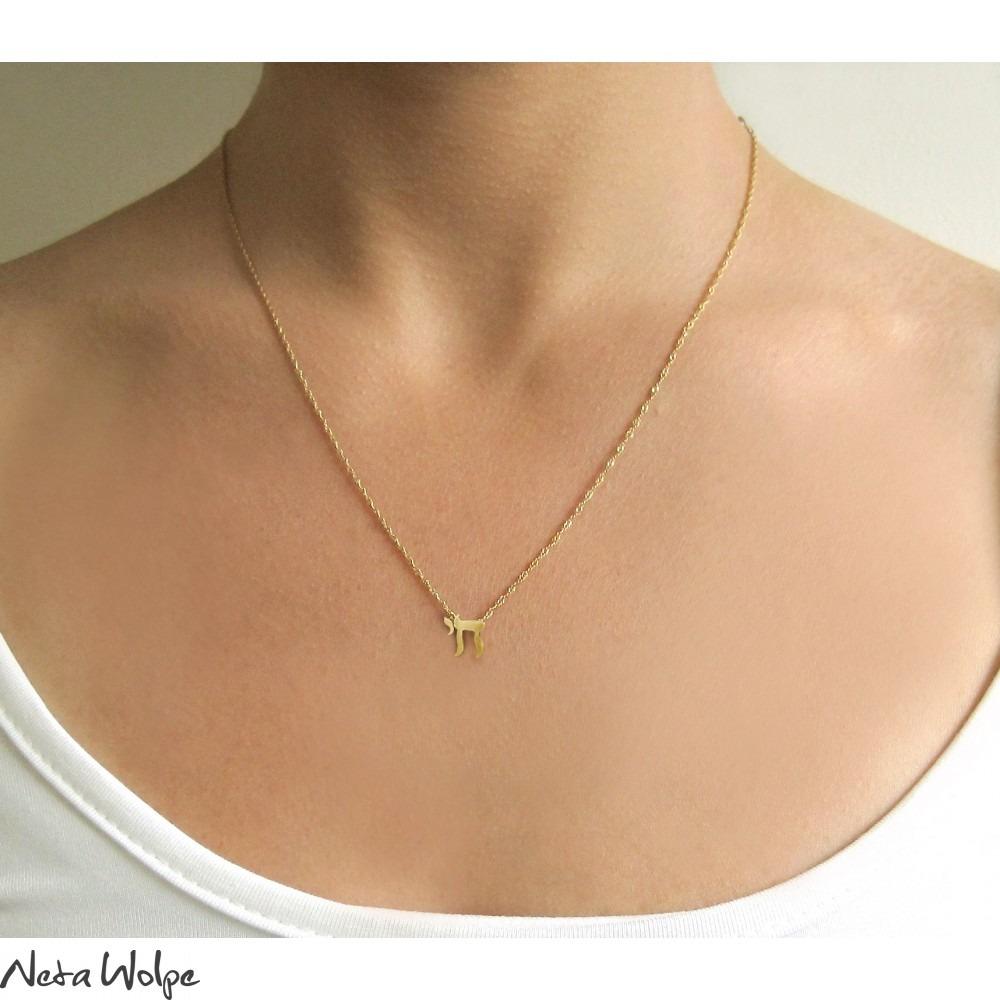 Gold chai necklace neta wolpe gold chai necklace buycottarizona