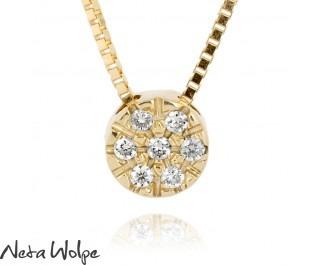 Tasteful Gold Necklace With Diamond Pendant
