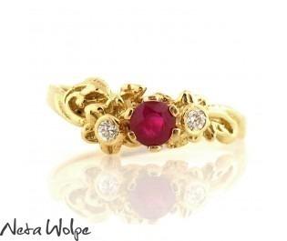 Art Nouveau Ruby & Diamond Ring