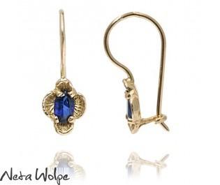 Vintage Flower Inspired Sapphire Earrings