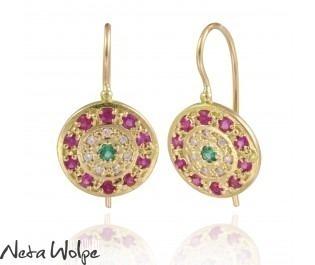 Carmen Art Nouveau Gemstone Earrings