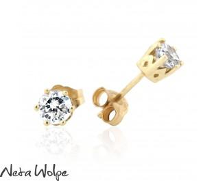 Royal Diamond Yellow Gold Studs