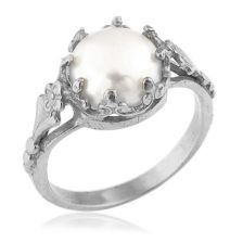 White Gold Victorian Ring