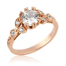 Blossoming Beauties Rose Gold Engagement Ring