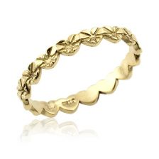 Chain Of Embedded Hearts Wedding Ring