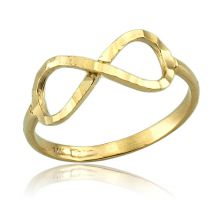 Solid Gold Infinity Ring