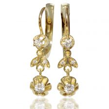 Yellow Gold Antique Style Earrings