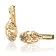 Lovely Yellow Gold Antique Style Earrings