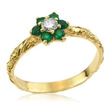 Victorian Inspired Gold Cluster Flower Ring