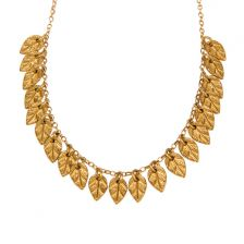 Gold Romantic Leaves Necklace