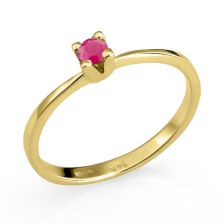 Romantic Ruby Engagement Ring