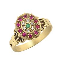 Royal Ring with Mixed Stones