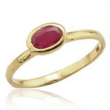 Classic Cocktail Ruby Ring