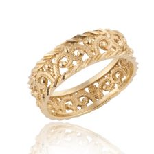 Detailed Gold Band